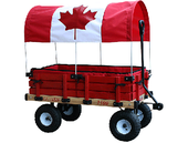 Classic Wagon Model #04879 38 x 20 Flag Canopy with Pads - Canadian Made