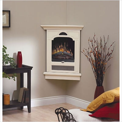 Dimplex Corner-Style Wall Mount Cream Electric Fireplace ...