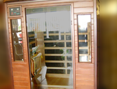 FLOOR MODEL: Pure Saunas Far Infrared Cedar Sauna Low EMF Carbon Fiber Heaters: 1-2 Person