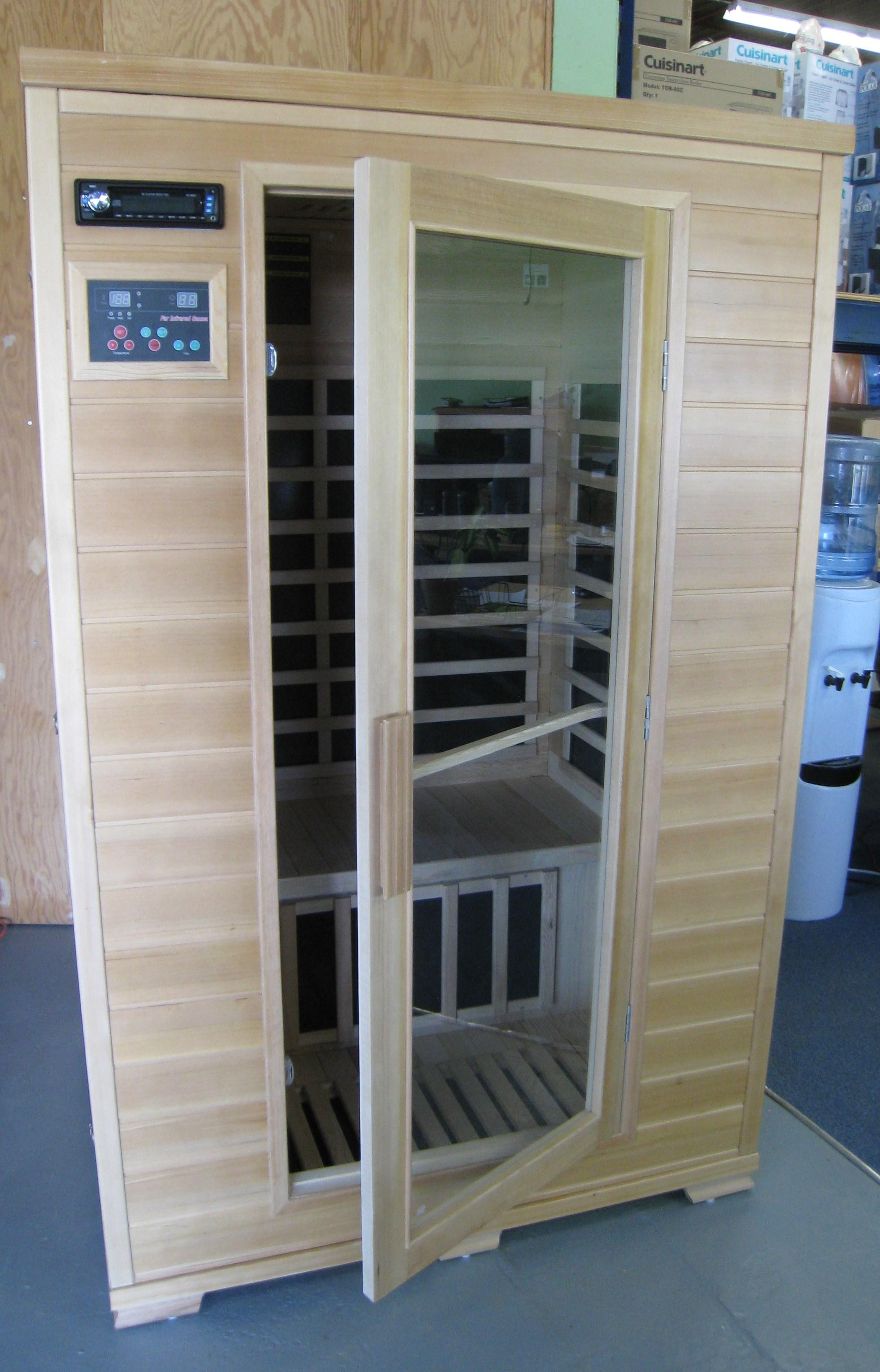 Saunas Far Infrared Hemlock Sauna Low EMF Carbon Fiber Heaters - 2 ...