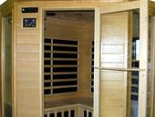 Pure Saunas Far Infrared Sauna Carbon Fiber Heaters Hemlock - Corner Model