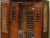 Pure Saunas Far Infrared Sauna Carbon Fiber Heaters Cedar - Corner Model 
