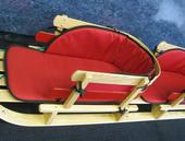 Twin Wooden Sleigh w Pads - Model #8055 - 14.5 W x 54.5 L x 13 H - Canadian Made!